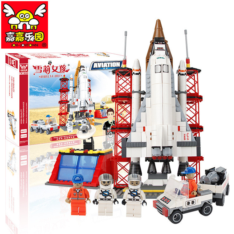 aviation rocket ship launch station educational toys 2015