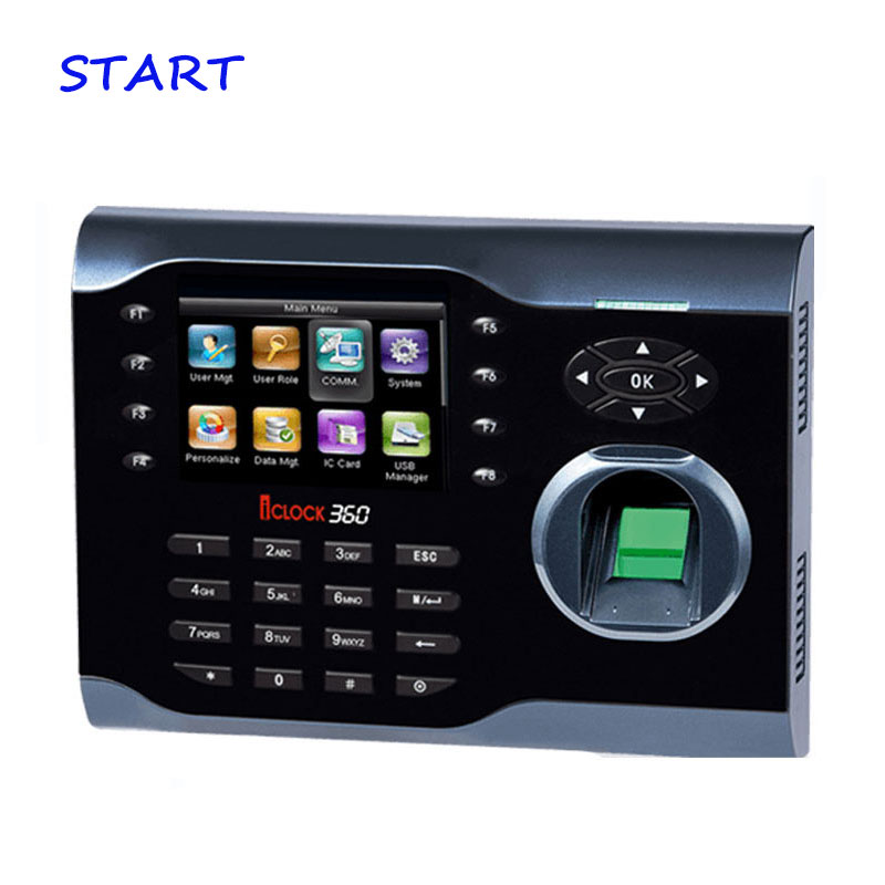 3.5 Inch TFT ZK Iclock360 TCP/IP Fingerprint Time Attendance With T9 Inp Ute Biometric Time Recording