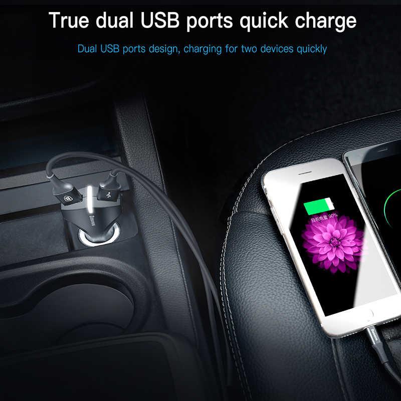 Chargeur rapide Baseus 3.0 double USB chargeur de voiture 5V3A QC QC3.0 Turbo chargeur de voiture rapide pour iPhone X Xiaomi mi 9