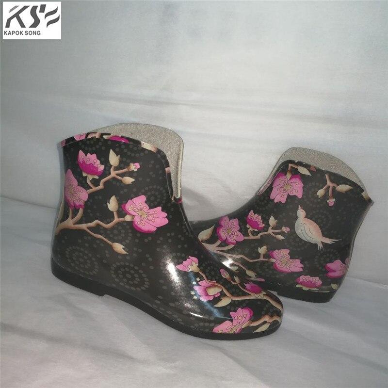 women rain boots waterproof ankle U lady rainboot luxury designers women rainwear rubber environmental comfortable shoes female