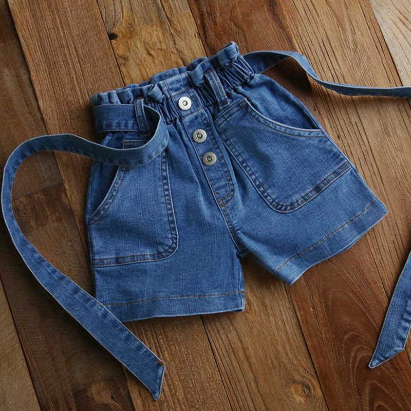 Figwit Pantalones Vaqueros Cortos De Cintura Alta Para Ninas Ropa Azul Para Adolescentes 6 10 Y 13 Anos Holgados De Algodon Para Verano Pantalones Cortos Aliexpress