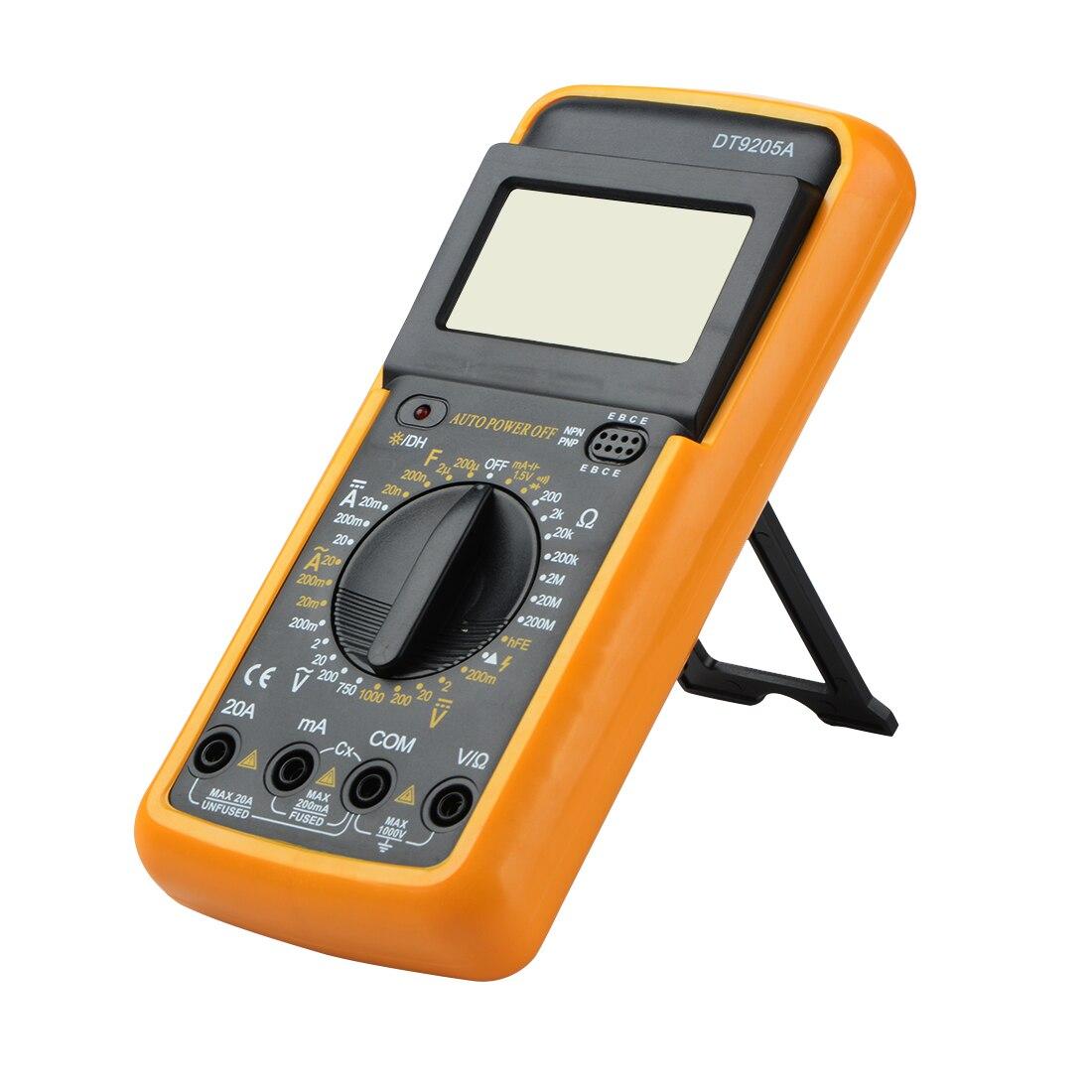 DT9205A Professional Electric Handheld Tester Meter Digital Multimeter Ammeter Portable Multitester AC DC LCD Display dt9205a lcd display multi fuction digital multimeter tester ac dc black