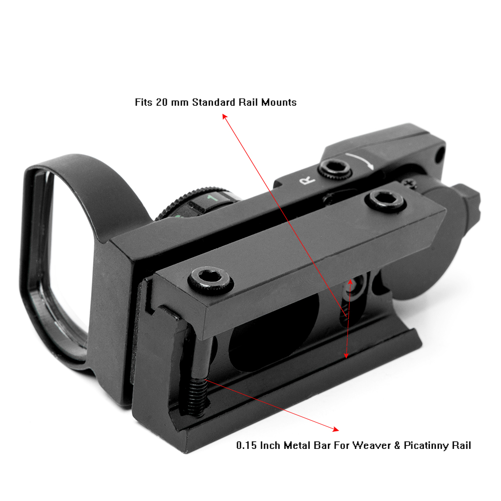 Riflescope 20mm Rail Holographic Red Dot Sight 4 Reticle tactical Scope Collimator Optical sight Hunting Airsoft Optics