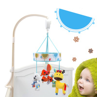 Baby Rattle Newborn Cartoon Animal Music Bed Hanging Bed Bell Baby Stroller Pendant Rattles Toy Baby Music Enlightenment Toy
