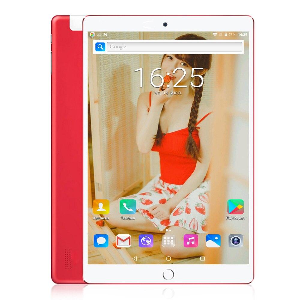 Tablet Android 7.0 10 Pouces 1920*1200 Octa Core 4 GB/32 GO Bluetooth WIFI 3G Téléphone IPS LCD Comprimés Mobile Tactile Tablet PC