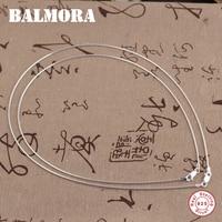 Balmora 100%リアル925スターリングシルバージュエリーチョーカーネックレス用女