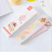 30 pcs/pack Happy birthday blessing card kawaii Paper Bookmark Cartoon Promotional Gift Stationery Bookmark papelaria