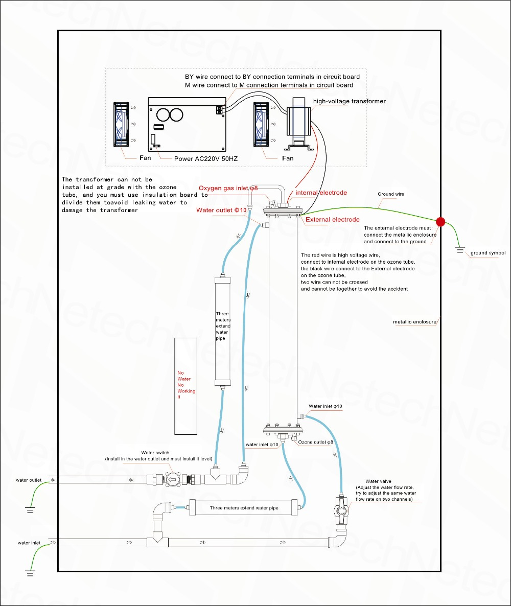 Super 30g H Enamel Tube Ozone Generator For Industry Water Air External Schematic This Is The Of Connections Conncection