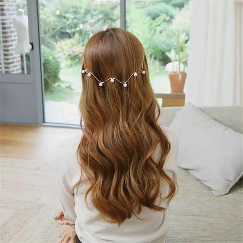 M MISM повязка для волос для девочек имитация жемчуга волнистая голова пряжка повязка на голову украшения для волос наголовный обруч принцесса Резиночки для волос аксессуары