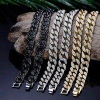 Мужские золотые серебряные цепочки в стиле хип-хопа, украшенные стразами, ожерелье рэпера, ювелирные изделия, подарок