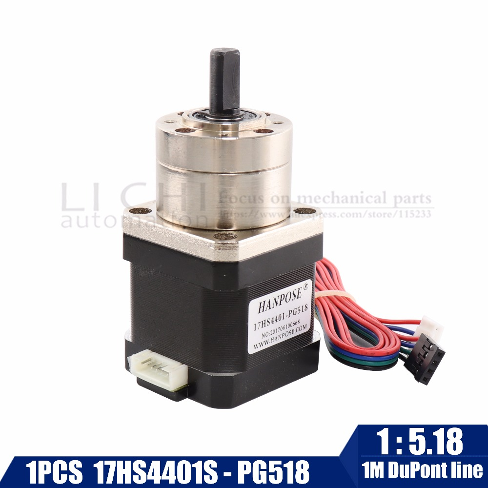 Free shipping 4-lead Nema17 Stepper Motor 42 motor Extruder Gear Stepper Motor Ratio 5.18:1 Planetary Gearbox Nema 17 Step Motor 1pcs new brand 28byj 48 dc 5v reduction step motor uln2003 gear stepper motor 4 phase step motor for arduino free shipping