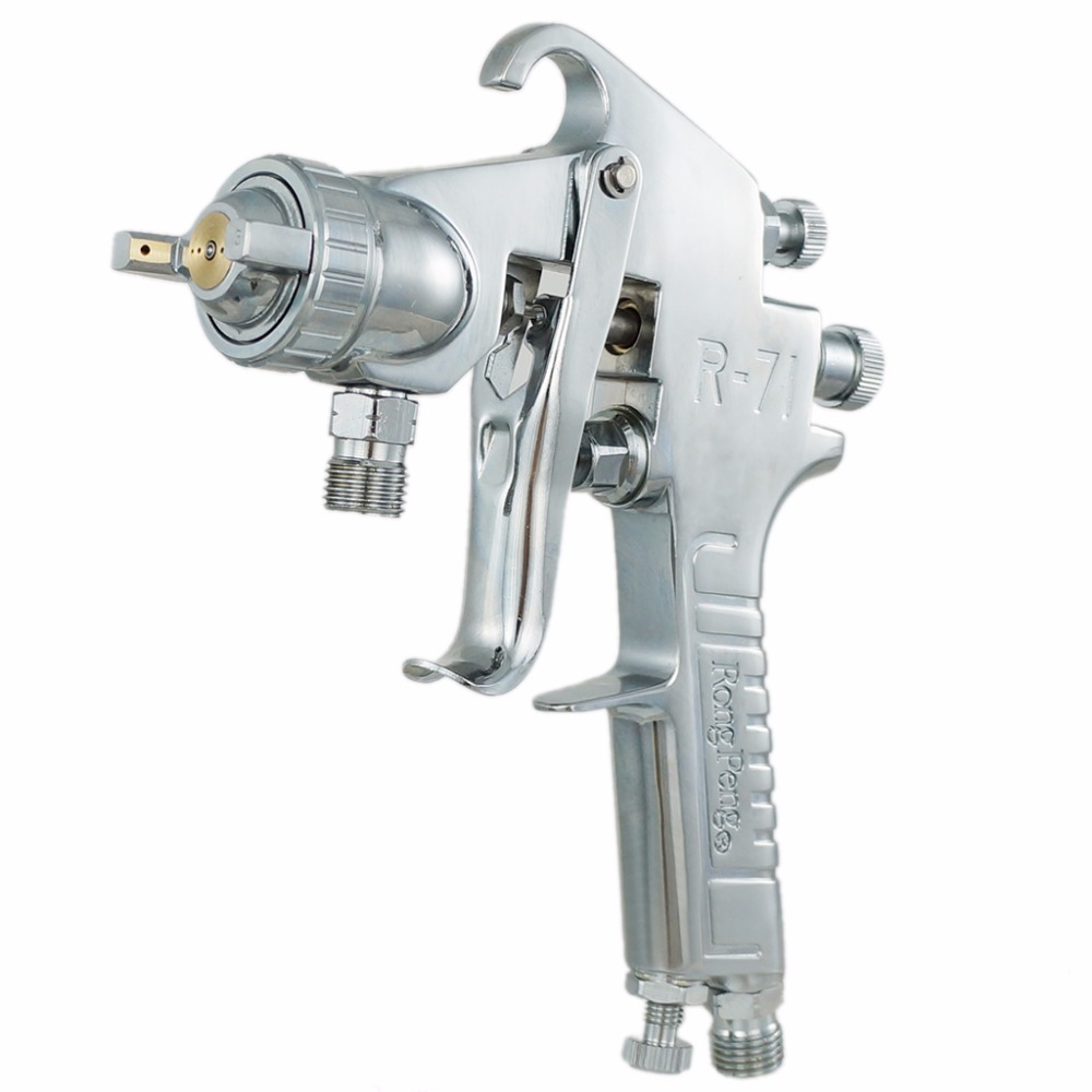 Подробнее о Free Shipping 1.3/1.5mm Nozzle Professional Pressure Spray Gun HVLP Car Paint Gun, Painted High Efficiency, Good Atomization new 4000b professional gravity spray gun with 1 3mm nozzle hvlp car paint gun painted high efficiency high quality