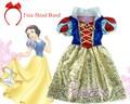 2016 Crianças Vestido de branca de Neve para a festa de Carnaval vestido meninas vestidos infantil de fiesta Blancanieve disfraz traje princesa