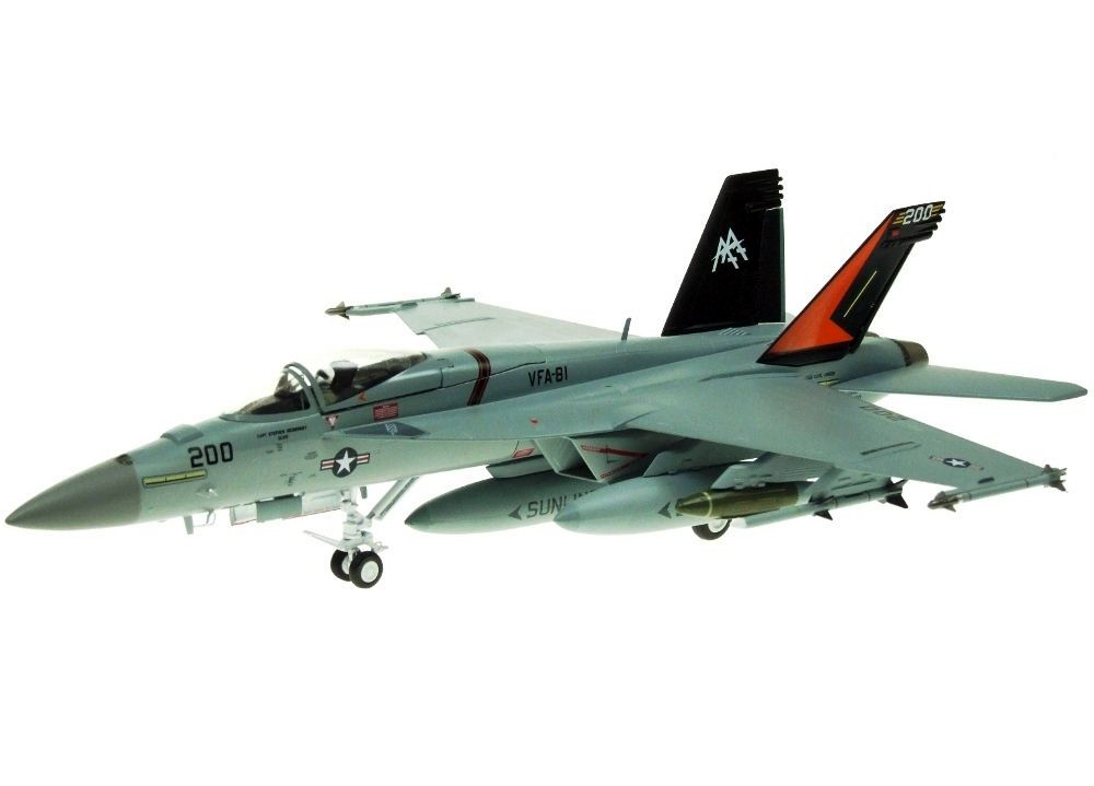 цена на rare Out of print Wtty 1/72 F / A-18E Super Hornet Fighter VFA-81 Sunliners squadron Alloy aircraft model Collection model