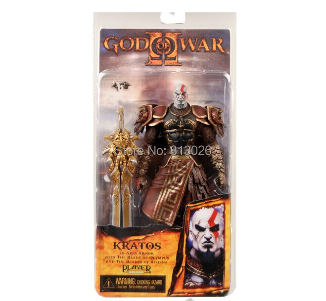 18cm God of War 2 II Weapons Sword Kratos in Ares Armor Action Figures PVC brinquedos Collection Figures toys with Retail box