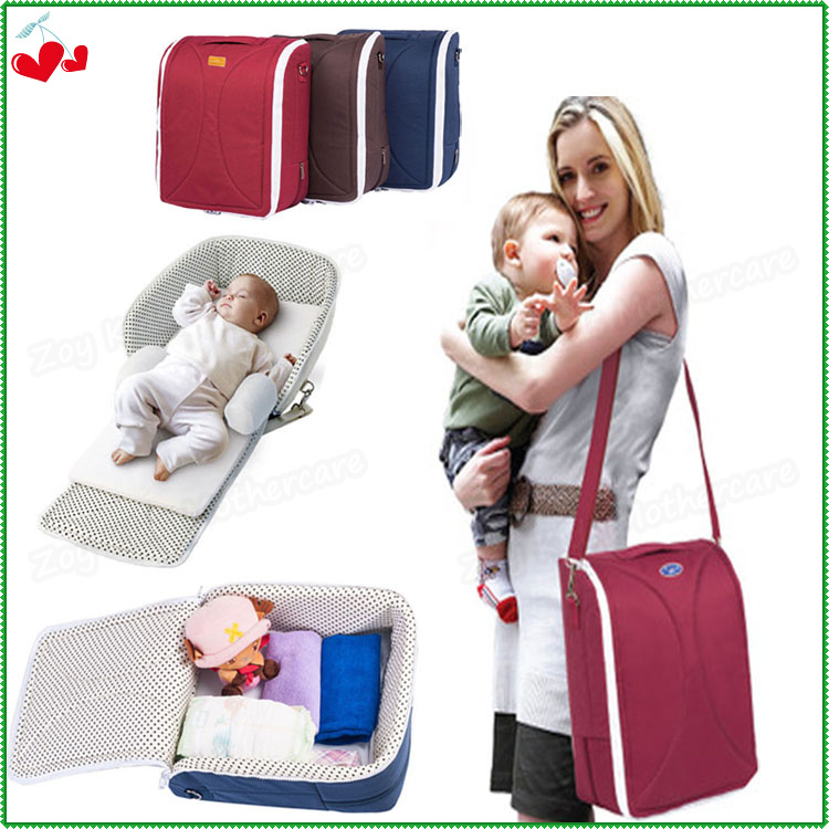 Portable Folding Baby Mummy Bag,Detachable Infant Cradle,Multifunctional Travel Bed,Female Big Maternity Bags Messenger For Moms