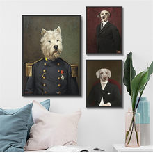 Clever Dog Poster Vintage Wall Art Retro Canvas Painting Animals Living Room Decoration Cuadros Decoracion Kids Bedroom Decor(China)