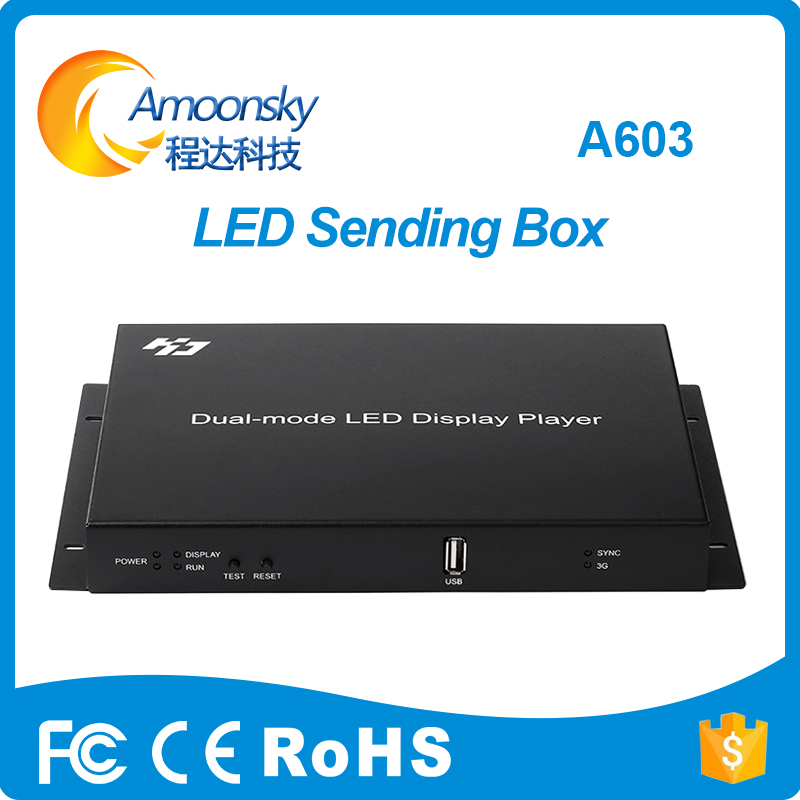 HD-A603 Led Display Controller Player Box Support HD-R500 R501 Receiving Card For Full Color Led Video Display Huidu Original