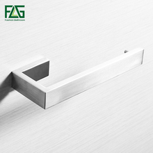 FLG 304 Stainless Steel Towel Ring Single Towel Bar Nickel Brushed Square Towel Rack Bathroom Wall Mounted Towel Holder все цены