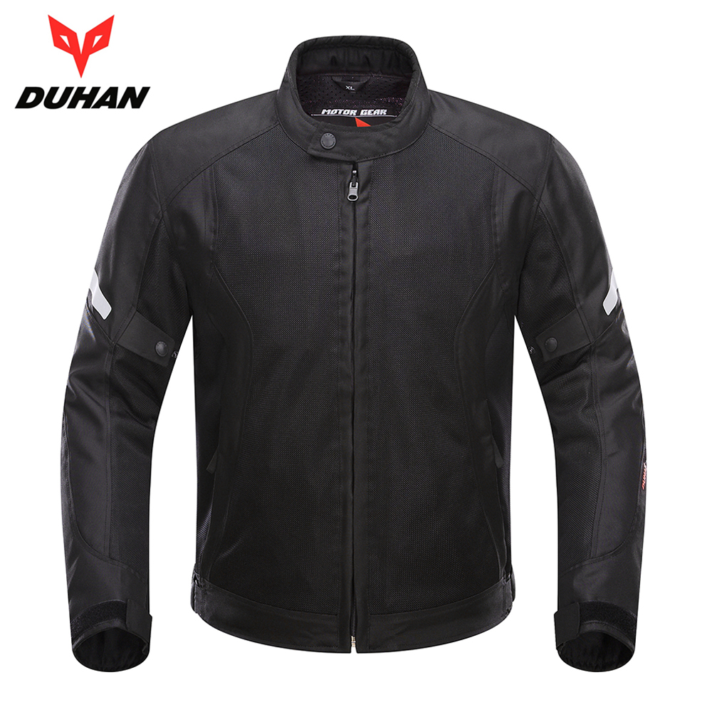 DUHAN Spring Summer Motorcycle Jacket Men Breathable Mesh Jacket Motorcycle Clothing Moto Jacket Armor Protective Gear Protector 2017 new camel outdoor spring summer skin clothing girls waterproof breathable windbreaker sun protective jacket a7s1u7178