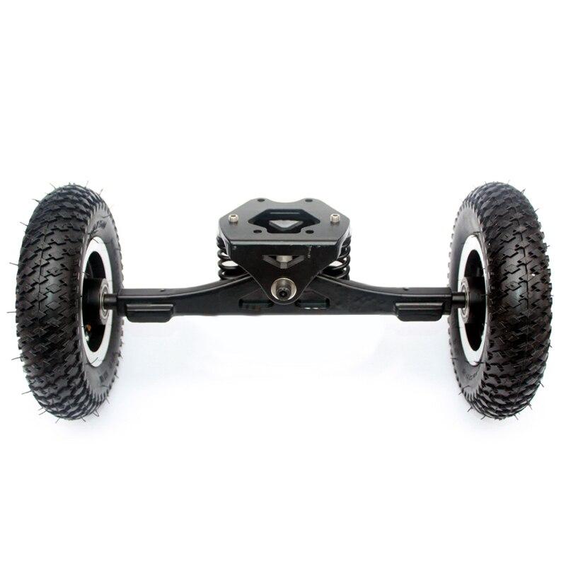 11 pouces camion électrique planche à roulettes moteur sans brosse 8 pouces Whlees hors route planche à roulettes ceinture lecteur pont 4 roues longue planche - 4
