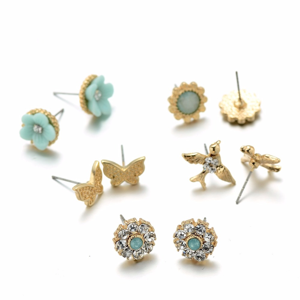 Onnea Summer Fashion Jewelry Mint Green Stud Earrings Set for Teen ...