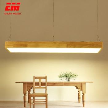 Hiện đại 60-120cm Đèn Gỗ & Nhôm Hạt LED sống phòng ăn Mặt dây chuyền đèn treo đèn đèn măng xông ZDD0022