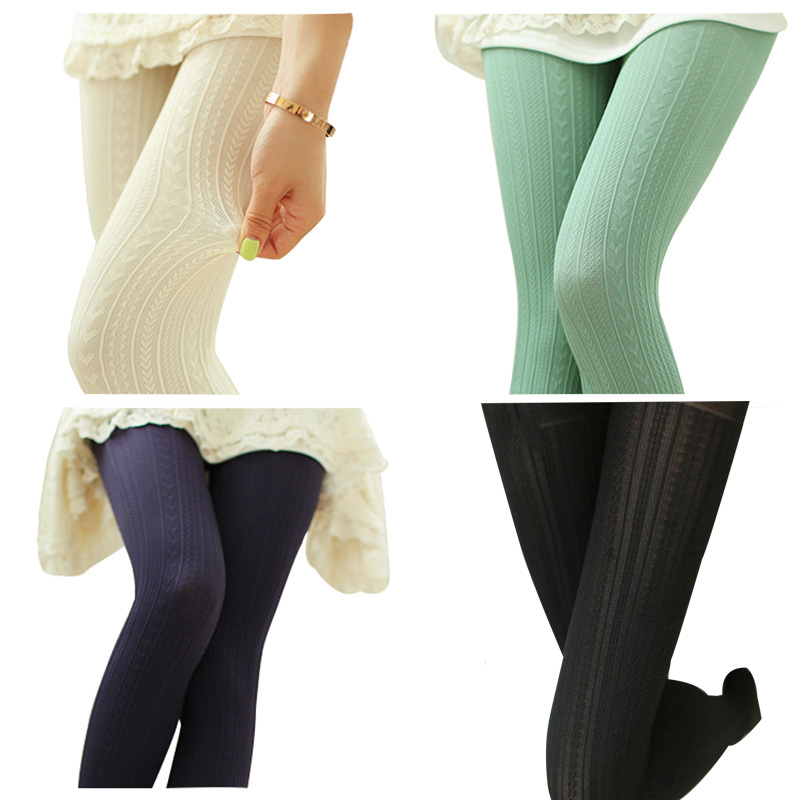 3 Pair Women's Sexy Footed Thick Opaque Pantyhose Stretch 160 Denier Long Soft Autumn Winter Nylon Tights Candy Color Stockings