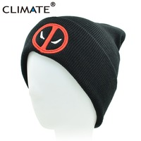 cf750d035be CLIMATE New Hot Men Women Winter Warm Beanies Hat Deadpool Heros Hat Beanie  Soft Hip Hop