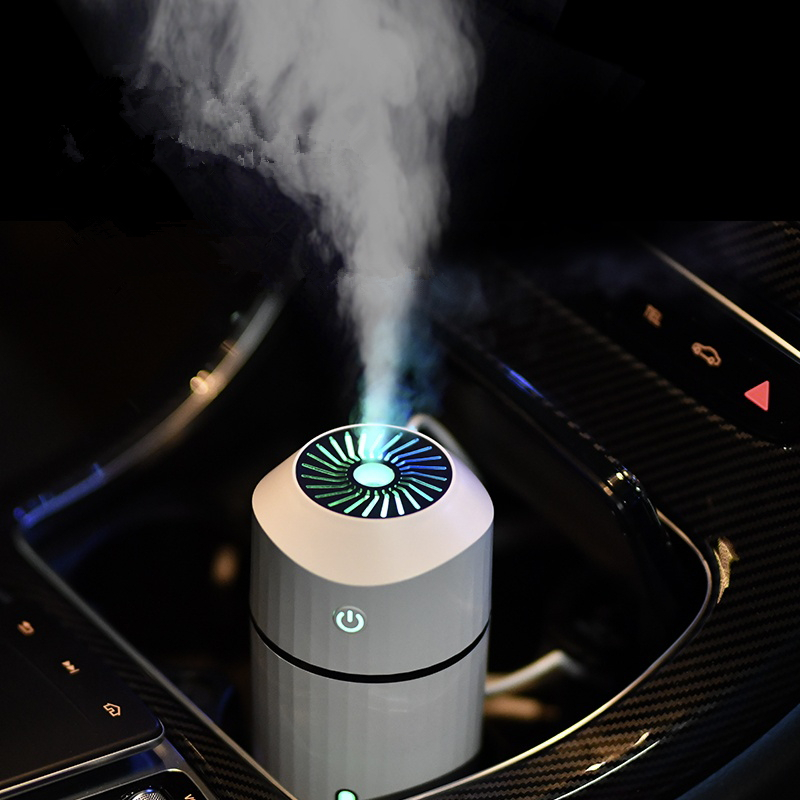 320ml Ultrasonic Car Humidifier Creative Lecai Cup USB Aroma Diffuser Air Purify Hydration With 7 Color Night Light