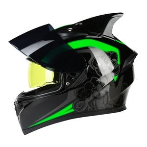 Image 5 - AIS Motorrad Helm Flip Up Motocross Helme Moto Full Face Helme Capacete Casco Moto Mit Inneren Sonnenblende Modulare Schwarz