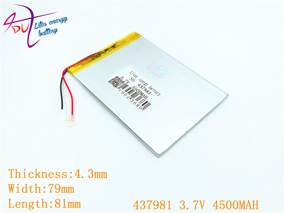 1 Stücke/lot 437981 3,7 V 4500 Mah 408080 Lithium-polymer-batterie Mit Schutz Bord Für Pda Tablet Stücke Digitale Produkte