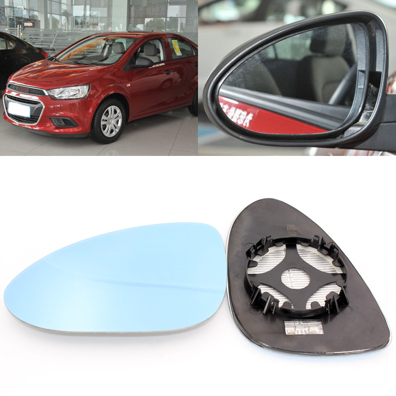 For Chevrolet AVEO 2011-2014 Side View Door Mirror Blue Glass With Base Heated 1 Pair