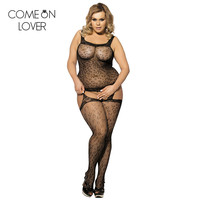 HE3029 New Arrival Black Pink Sexy Girl Bodystocking Plus Size XL Open Butt Deign Full Body