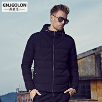 Enjeolon Winter Jacket Men Waterproof 2017 Brand Parka Men Clothing Zipper Cotton Padded Hooded Thick Quilted