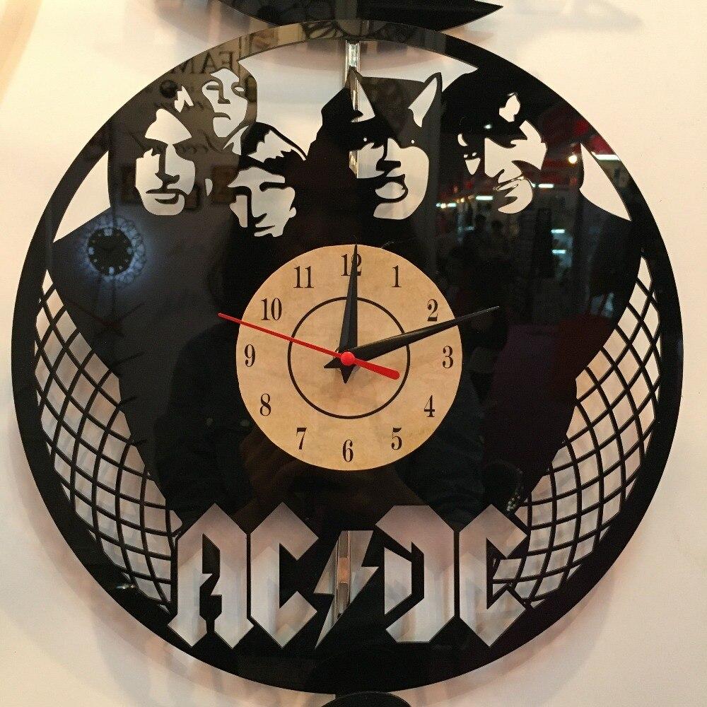 European retro style ACDC Theme Wall Clock Vinyl Record ...