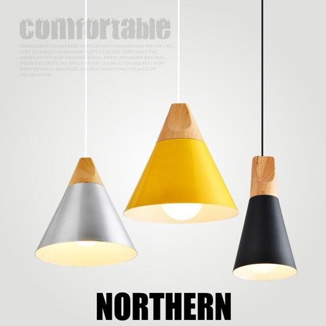 Neu! Nordischen Stil Aluminium + Holz Einfach Pendelleuchte Lampe Dekoration  Licht Für Wohnzimmer
