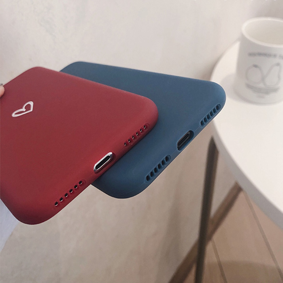 For Xiaomi Redmi Note 5 4A 4X 5 Plus 6a S2 Case Love Heart Print Back Cover For Redmi A2 Lite/6 Pro Retro Lovely Matte Soft Case