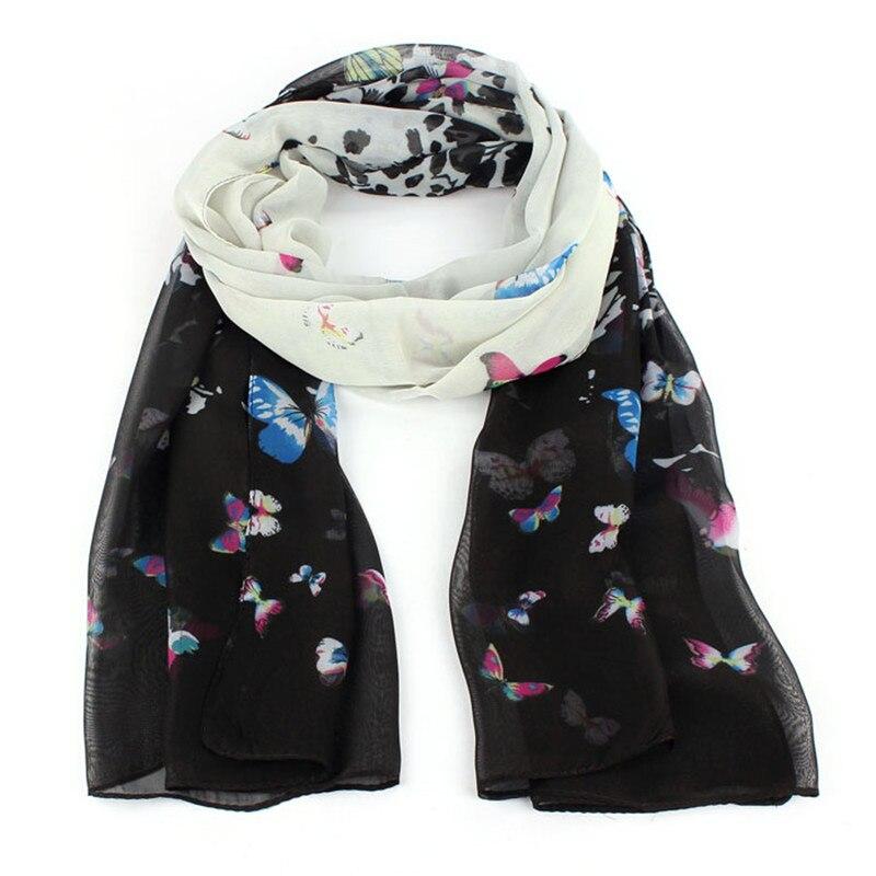 Women   Scarf   Chiffon Soft Muffler   Scarves   Long   Wraps   Shawl Butterfly   Scarf   BK Cachecol Y50