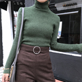 Turtleneck Cashmere Wool Sweater Women Pullover Winter Thick Warm Knitted Ladies Sweater Vintage Quality Solid 2016 New Fashion