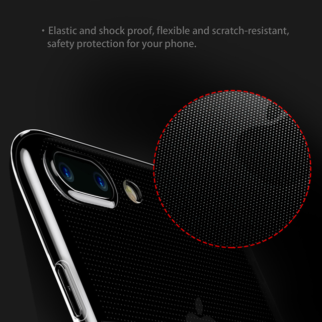 Clear Case: Black or Full Transparent Silicone Case for iPhone 7 7 Plus 8 8 Plus (TPU iPhone Case) by Baseus 4