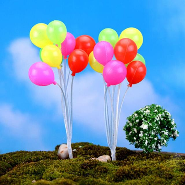 Cute Mini Dolls Home Garden Simulation Colorful Balloons Micro Landscape Garden Decorations Christmas Gift Miniatures 4