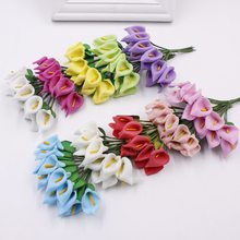 Simulation Calla Lily Home Decoration Flower Gift Box Wedding Foam Mini with Small Bouquet of Leave