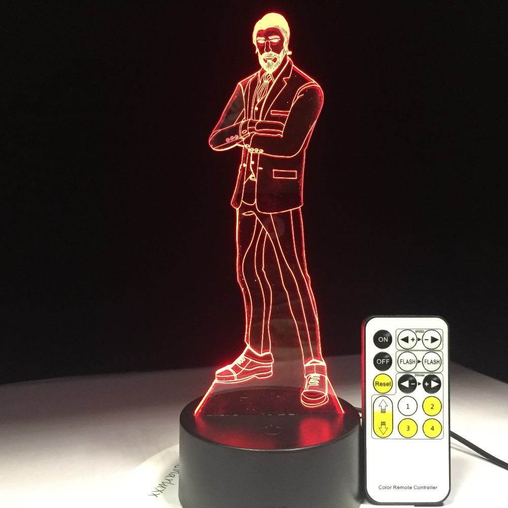 The Reaper Battle Game 3D Lamp Arylic Panel RGBW Changeable LED Mood Lamp 7 Colors Night Light for Birthday Gift Drop Shipping free shipping 1piece new arrive marvel anti hero deadpool figure light handmade 3d bulbing illusion lamp led mood light for kid