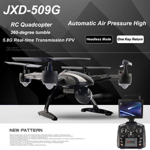 JXD 509G RC Quadcopter Drone With 5.8G HD Real Image Transmission Camera & LED Display Headless Mode Aircraft Toys