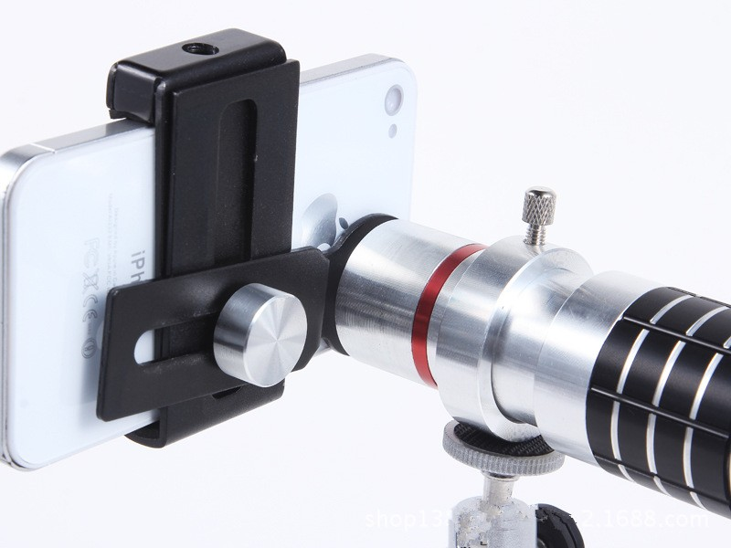 ORBMART Universal 16X Zoom Telescope Camera Mobile Phone Lens + Mini Tripod + Adjustable Clip For Samsung iPhone Redmi Note 5