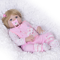 Lovely Girl Princess Reborn Baby Dolls 23'' Full Silicone Body Lifelike Baby Dolls with Hair So Truly Reborns kids Birthday