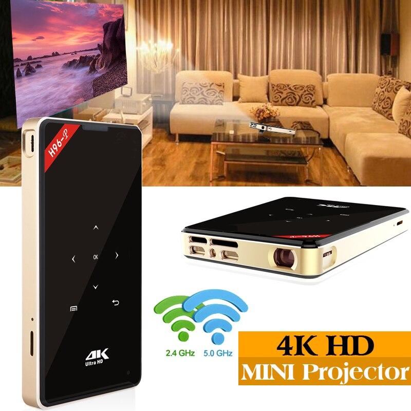 XinwaysH96-p proiettore android tasca pico proiettore H96 dlp mini proiettore amlogic S905 4 k 2.4g 5.8g Wifi BT4.0 la maison