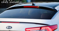 glossy black painted ABS Car Rear roof Spoiler Wing For KIA K5 2011 2016, no drilling needed with LED light