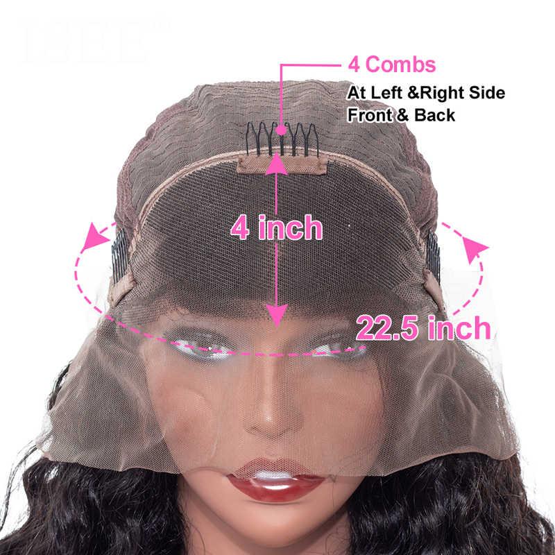 VSHOW 13 × 4 ディープ波ショート Bob かつら 150-180 密度レミかつら事前で摘み取らナチュラルカラーのレースのフロント人間の髪かつら